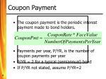 coupon payment