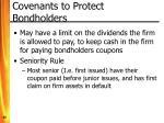 covenants to protect bondholders
