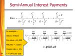 semi annual interest payments