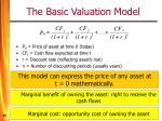 the basic valuation model