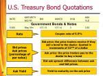 u s treasury bond quotations