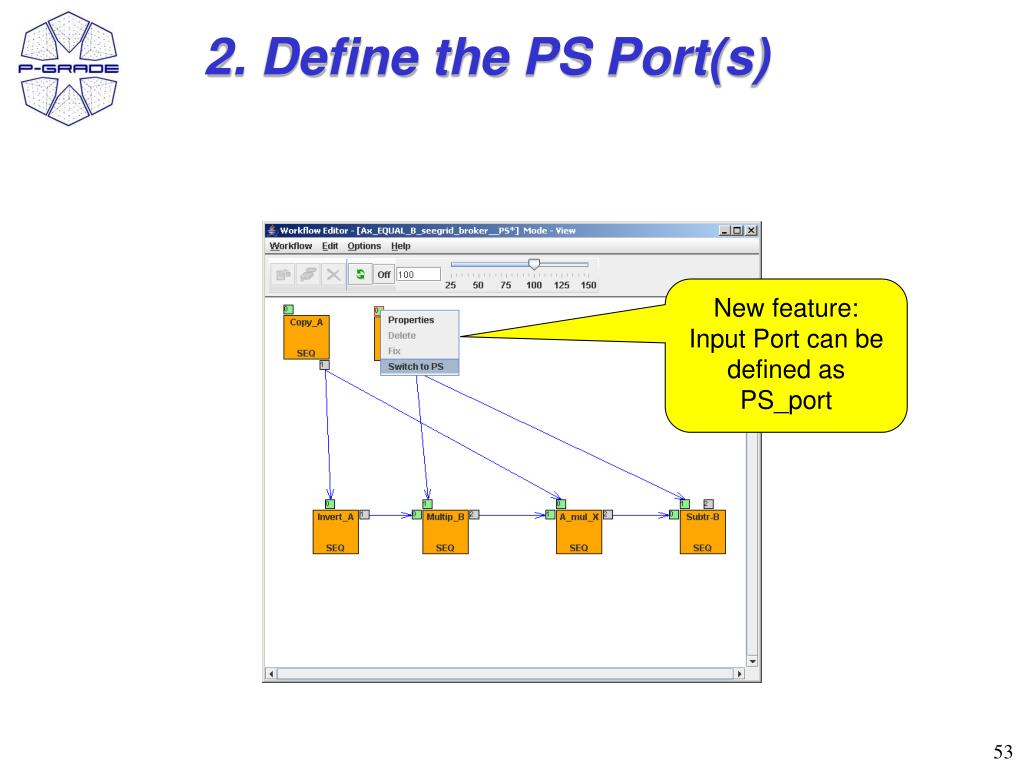 2. Define the PS Port(s)