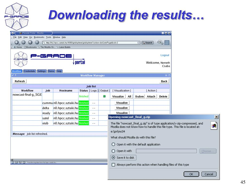 Downloading the results…