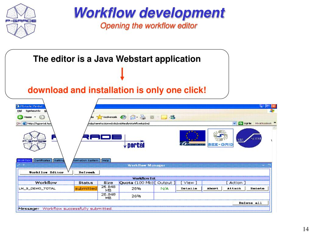 Workflow development