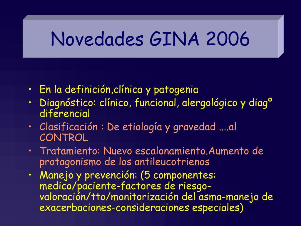 Novedades GINA 2006