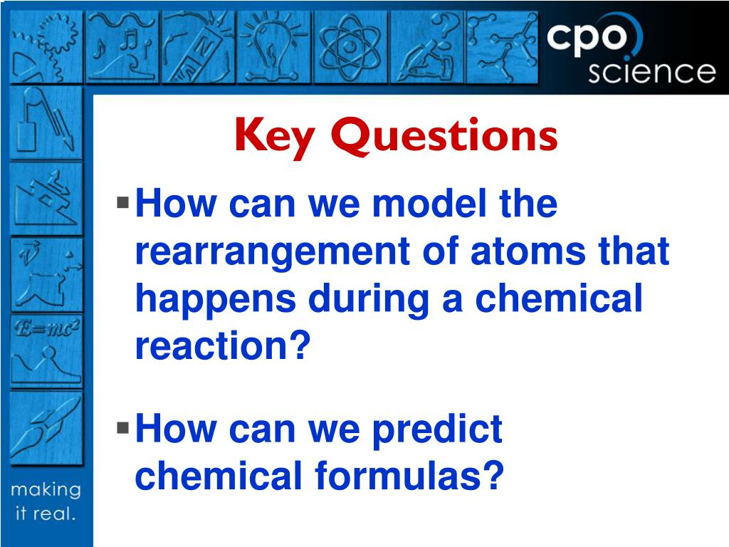 How can we model the rearrangement of atoms that happens during a chemical reaction?