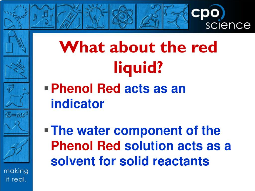 What about the red liquid?