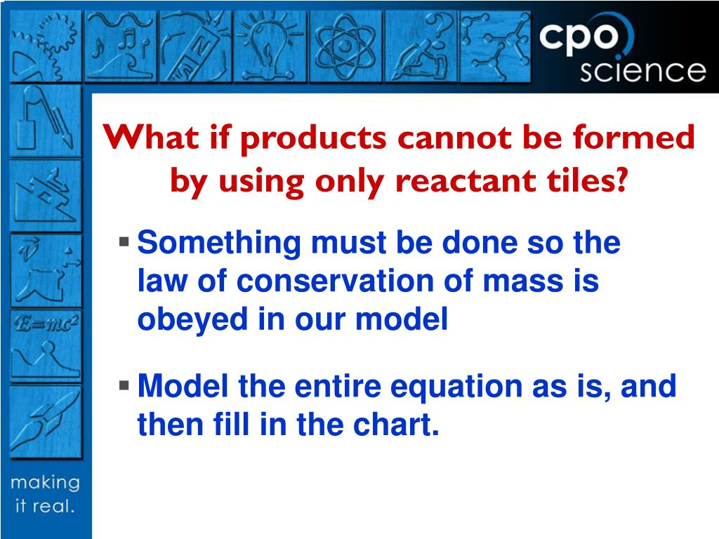 What if products cannot be formed by using only reactant tiles?