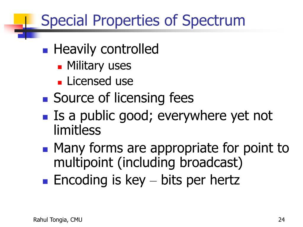 Special Properties of Spectrum