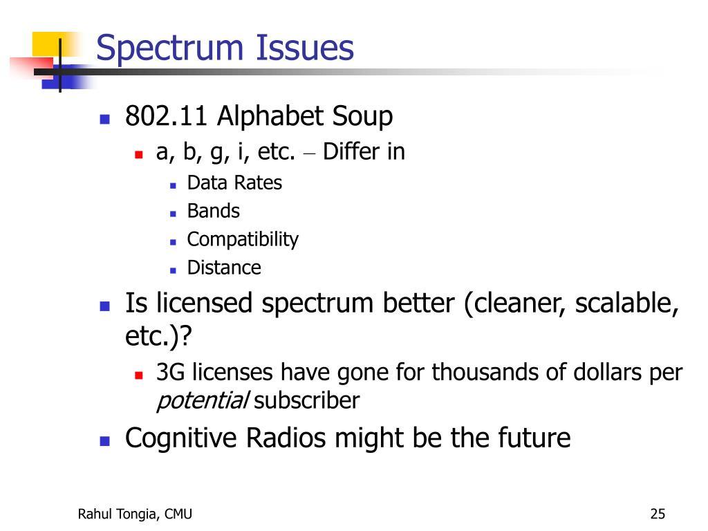 Spectrum Issues