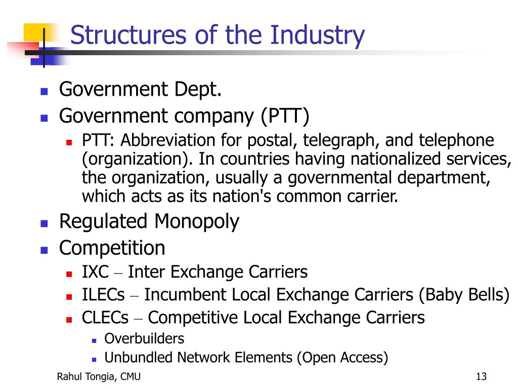 Structures of the Industry