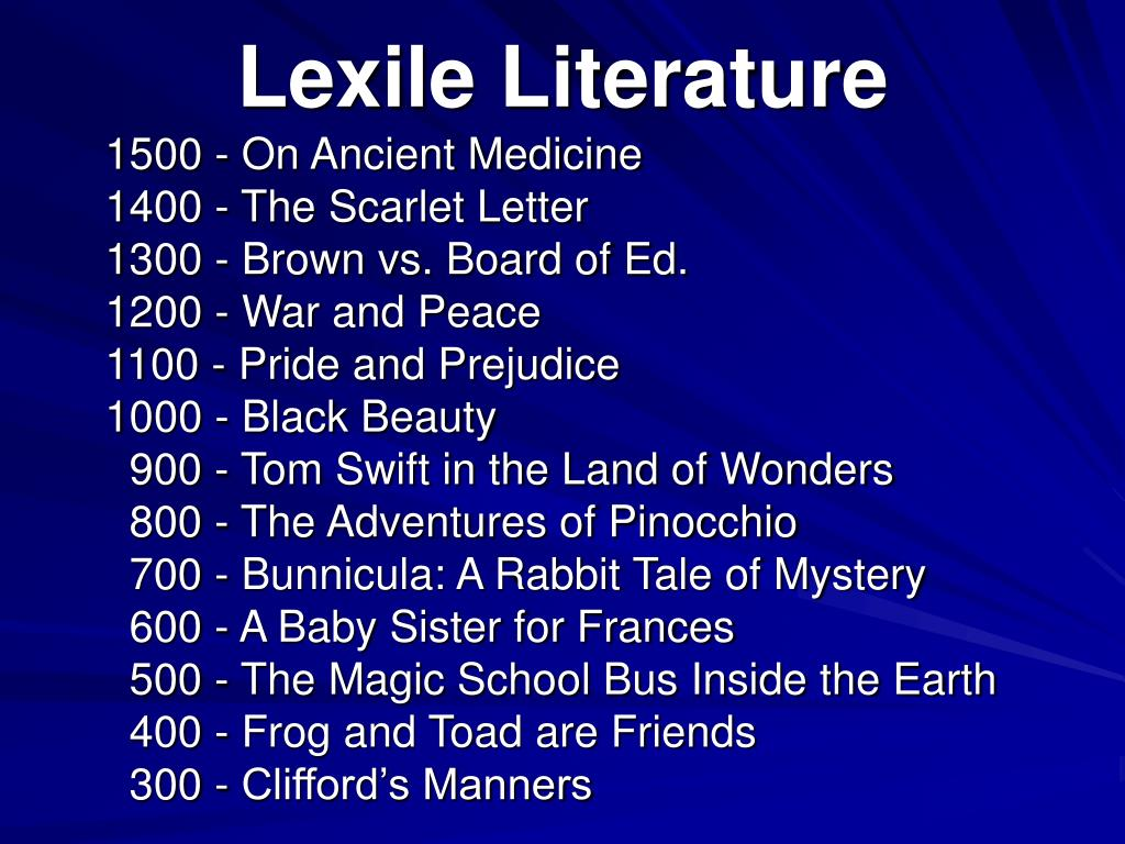 Lexile Literature