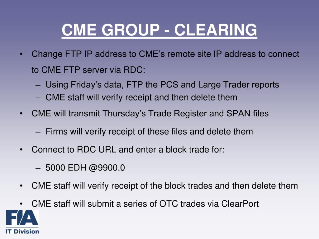 CME GROUP - CLEARING