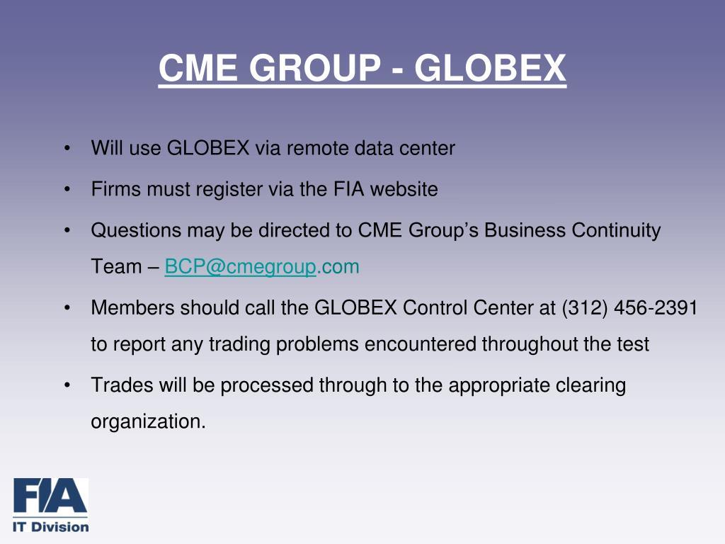 CME GROUP - GLOBEX
