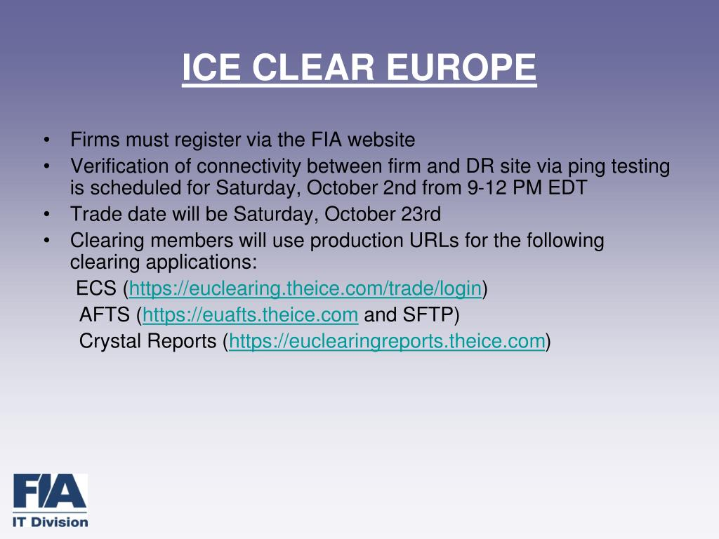 ICE CLEAR EUROPE