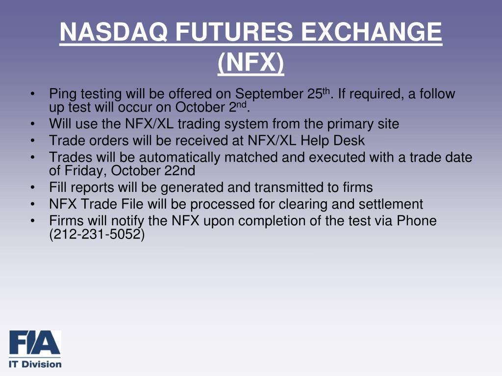 NASDAQ FUTURES EXCHANGE (NFX)
