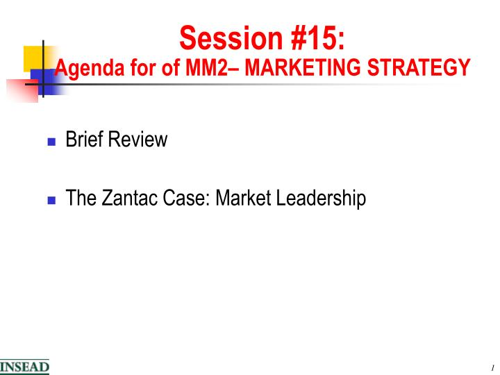 Session 1 5 agenda for of mm2 marketing strategy