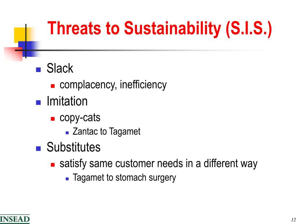 Threats to Sustainability (S.I.S.)