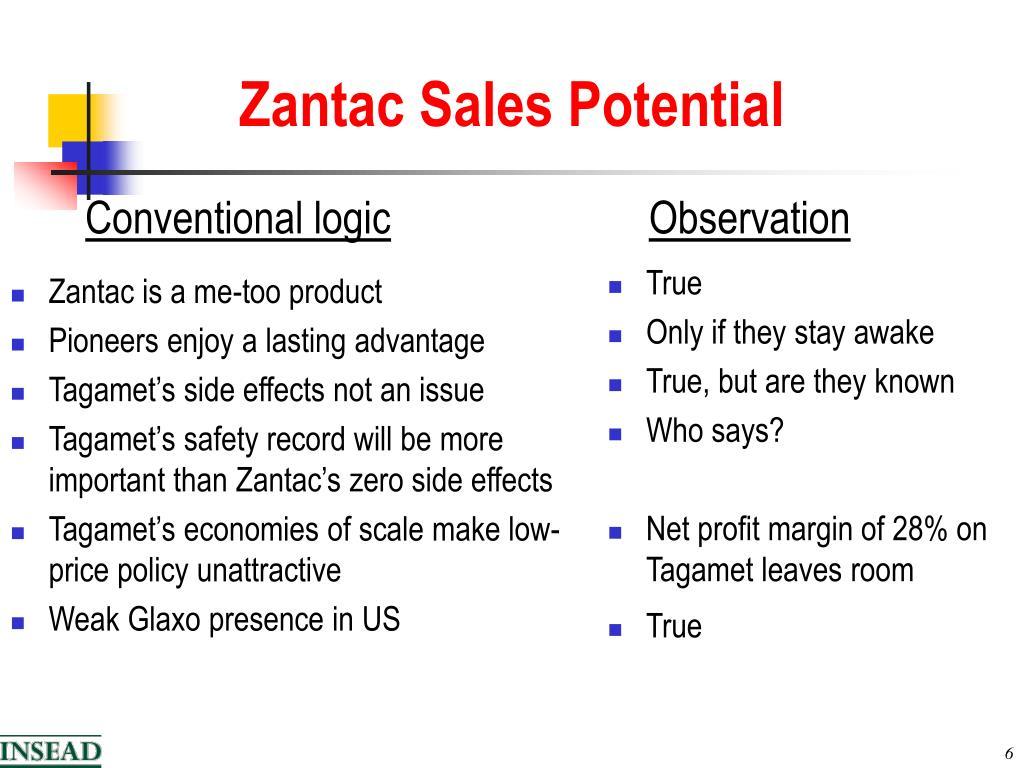 Zantac is a me-too product