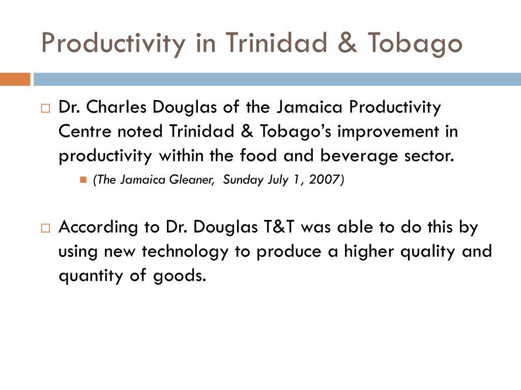 Productivity in Trinidad & Tobago