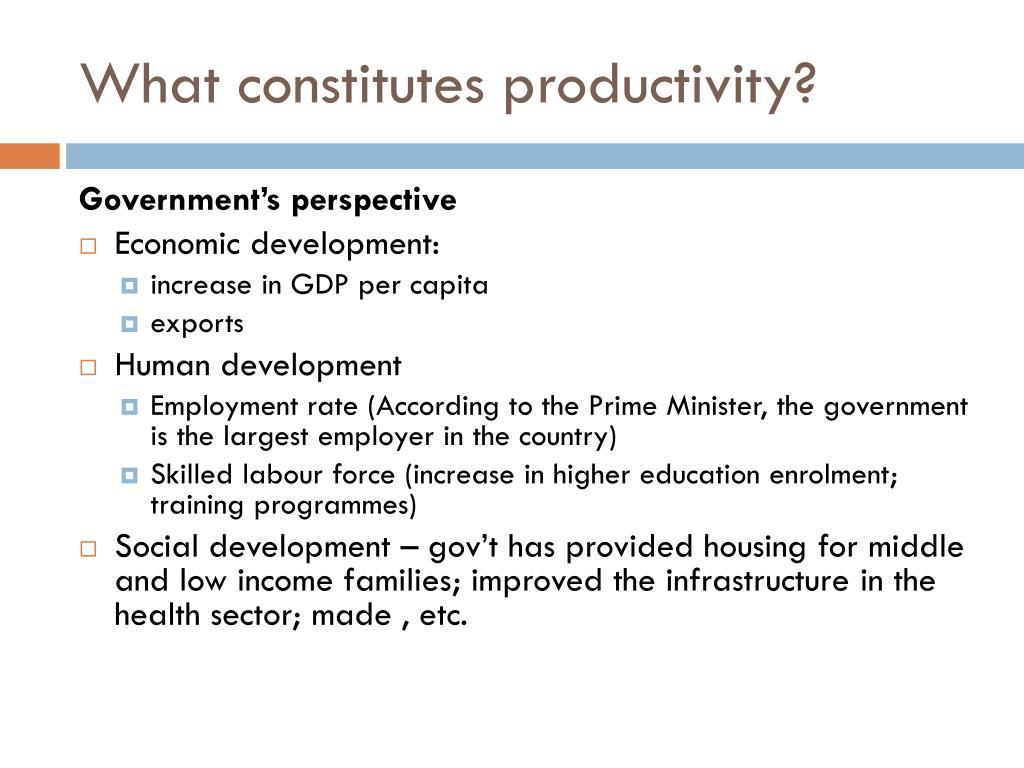 What constitutes productivity?