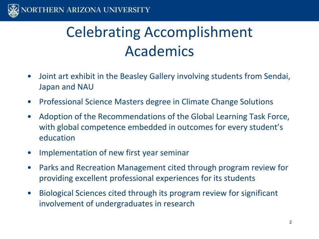 Celebrating Accomplishment