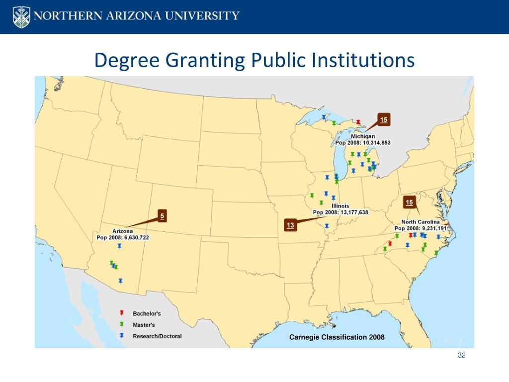 Degree Granting Public Institutions