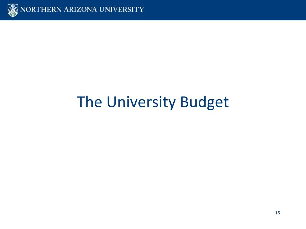 The University Budget