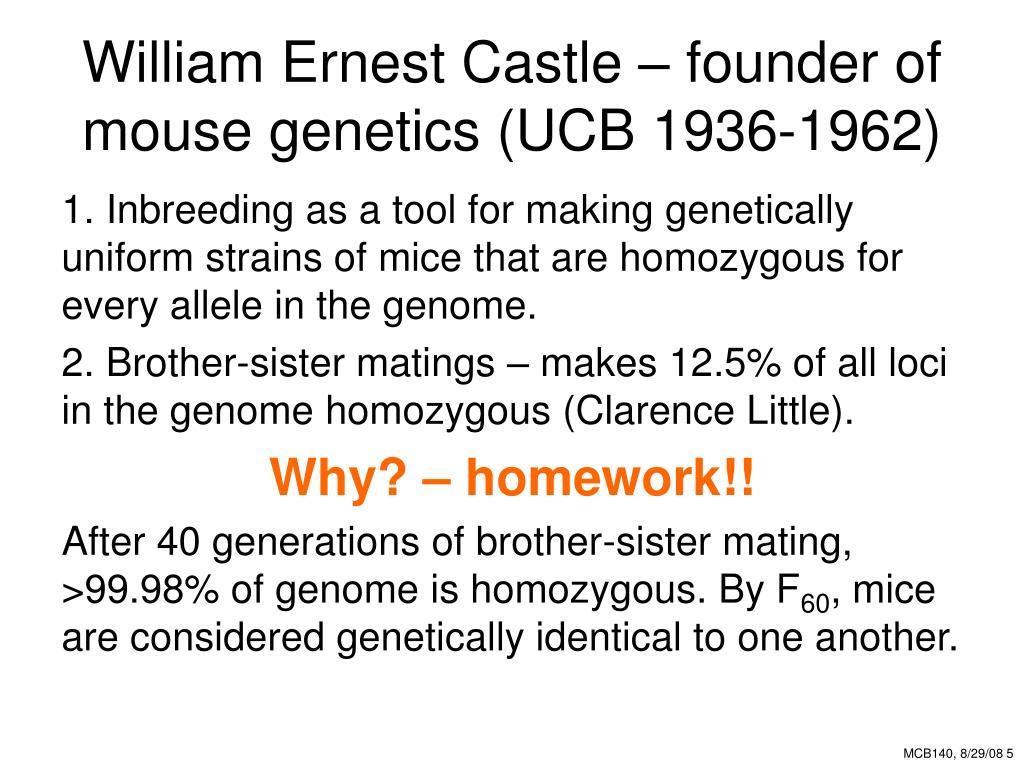 William Ernest Castle – founder of mouse genetics (UCB 1936-1962)
