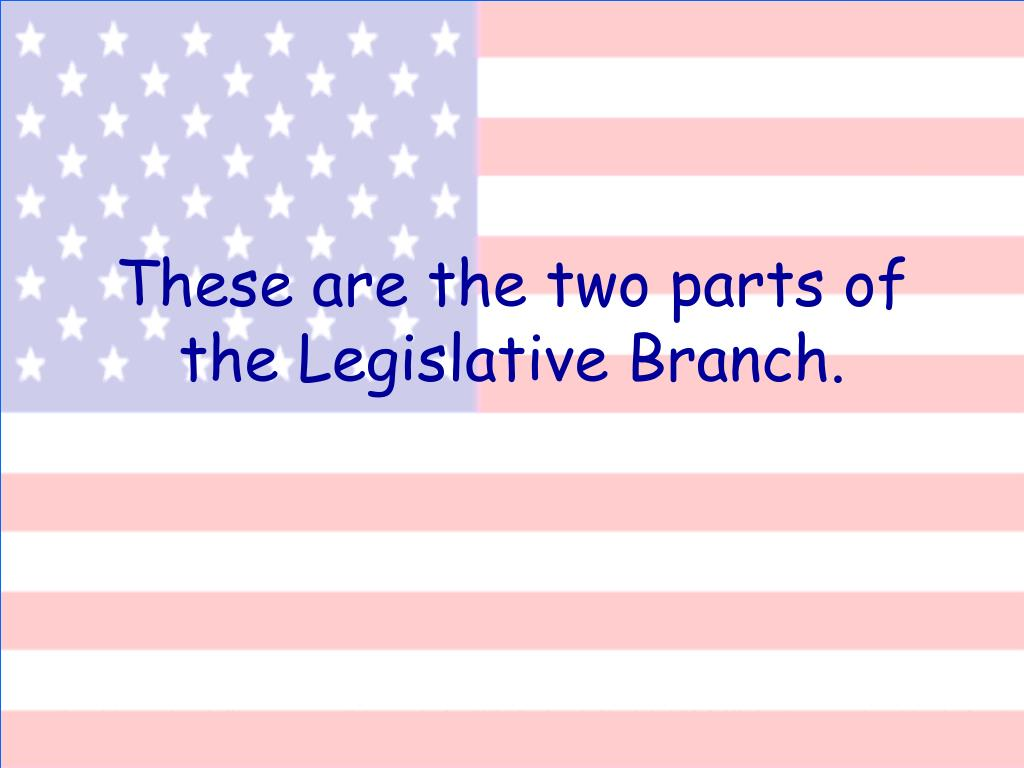 These are the two parts of the Legislative Branch.