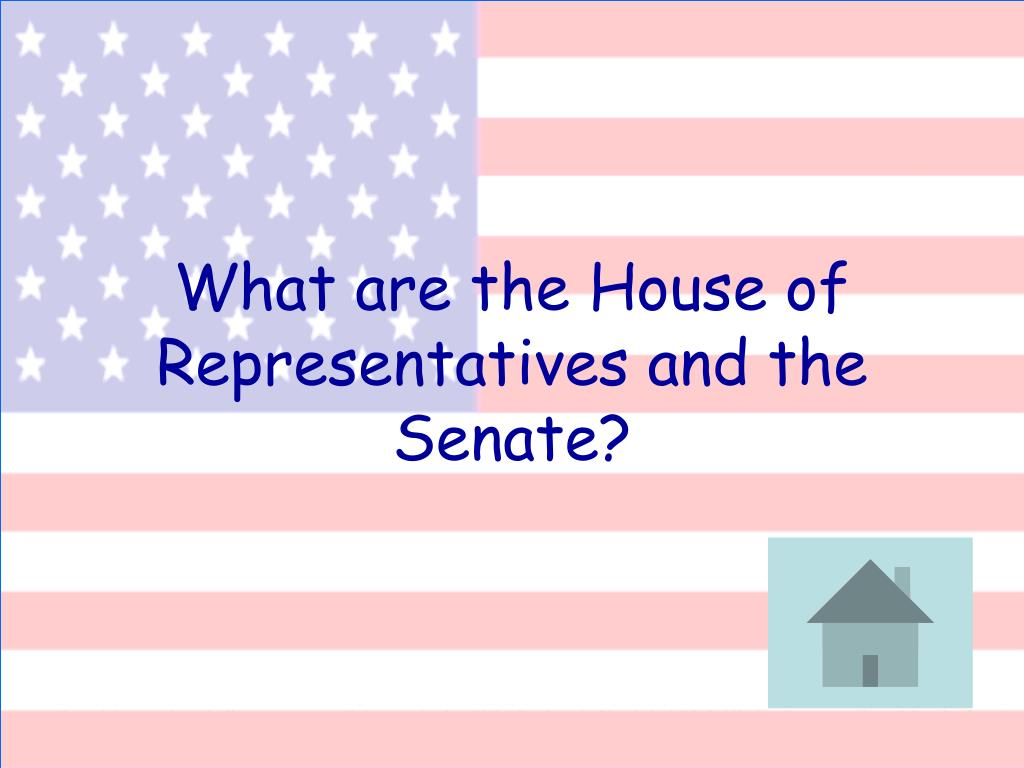 What are the House of Representatives and the Senate?
