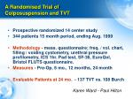 a randomised trial of colposuspension and tvt
