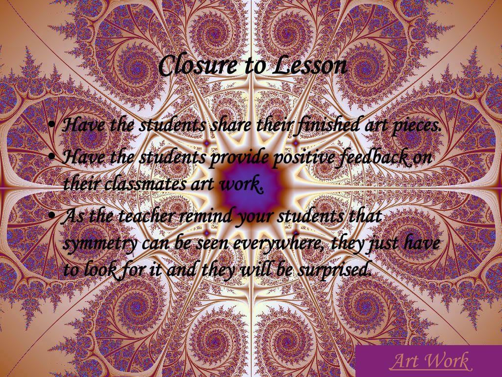 Closure to Lesson