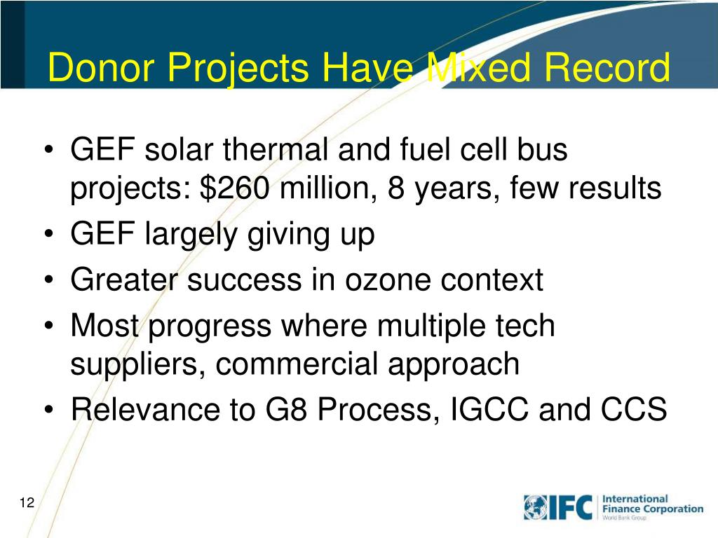 Donor Projects Have Mixed Record