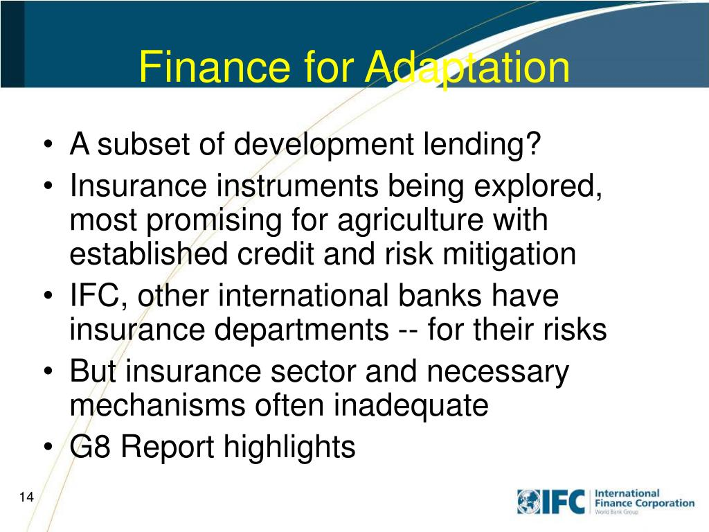Finance for Adaptation