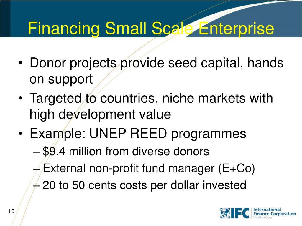 Financing Small Scale Enterprise