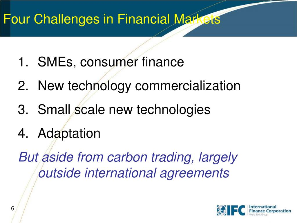 Four Challenges in Financial Markets