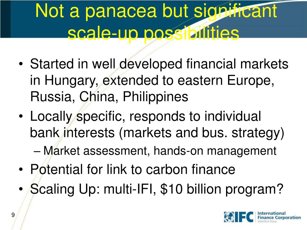 Not a panacea but significant scale-up possibilities