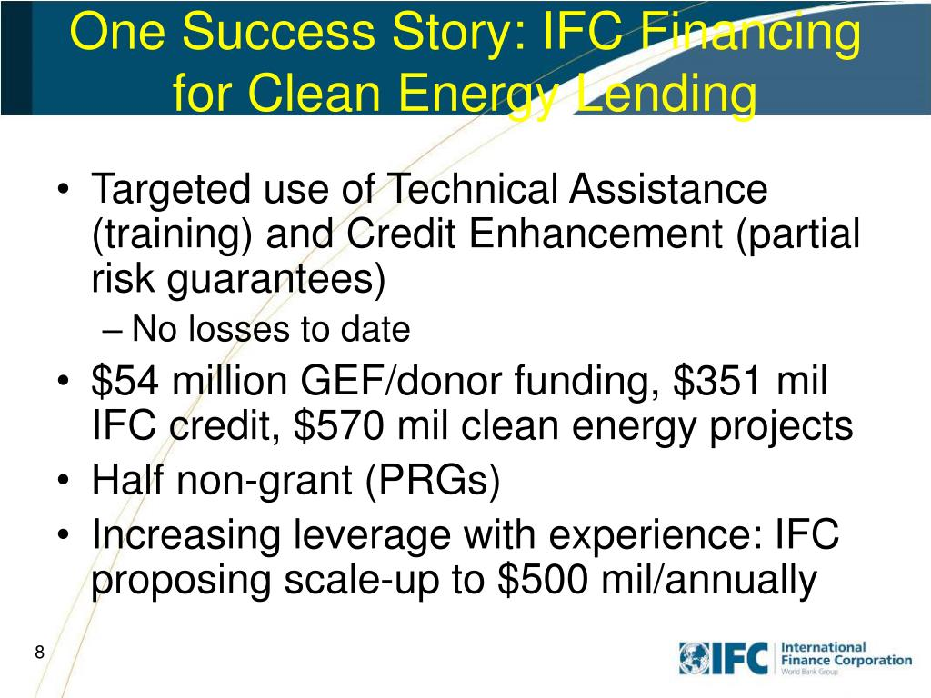 One Success Story: IFC Financing for Clean Energy Lending