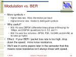 modulation vs ber