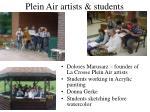 plein air artists students