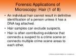 forensic applications of microscopy hair 1 of 8