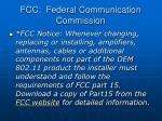 fcc federal communication commission