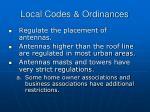 local codes ordinances