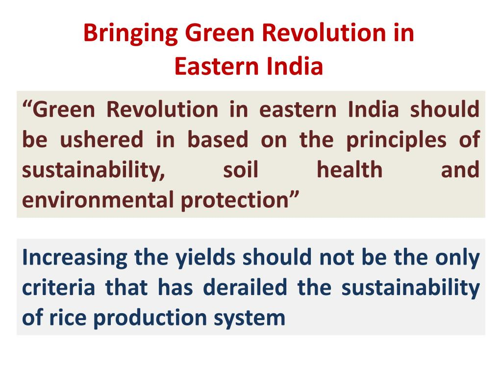 Bringing Green Revolution in