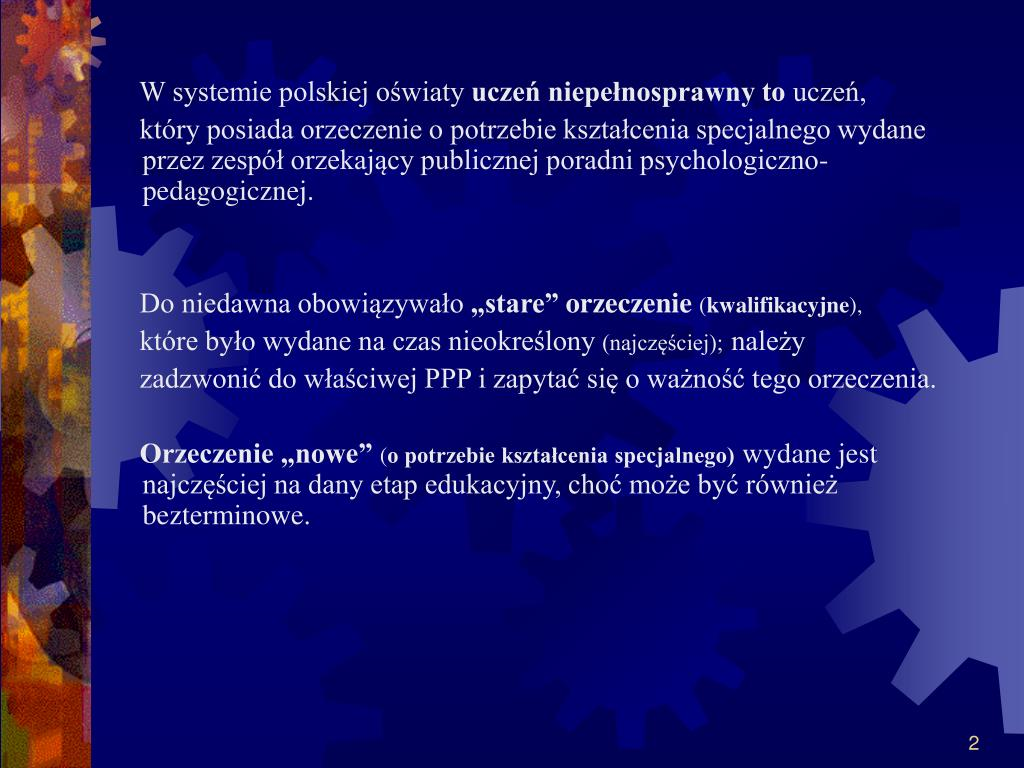 W systemie polskiej oświaty