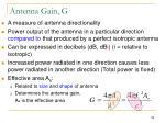 antenna gain g