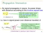 propagation attenuation