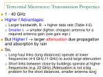 terrestrial microwave transmission properties