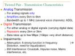 twisted pair transmission characteristics